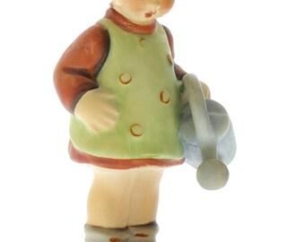 Goebel Hummel Surprise Little Gardener Girl #74 TMK 3 porcelain