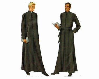 Sewing Pattern UNCUT Priest Clergy Robes Pastor Father Minster Reverend Butterick 6844 Size Chest 38 40 42