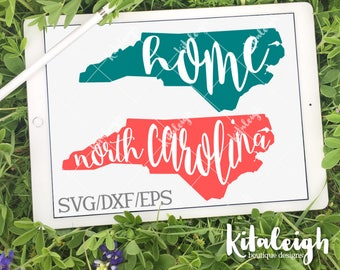 North Carolina Home Name INSTANT DOWNLOAD in dxf, svg, eps for use with programs such as Silhouette Studio and Cricut Design Space