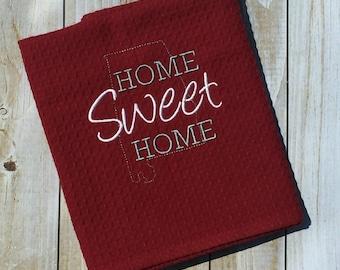 Custom Home Sweet Home Embroidered Kitchen Towels Alabama