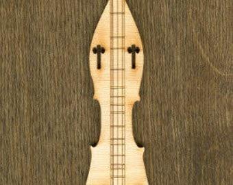 Dulcimer Fiddle Shaped (MU-034) - Laser Cut