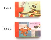 Walt Disney Productions Flip Book - 1 Animation Booklet w/ 2 Sides 1980s Merrimack Pub. Corp. Minnie Mouse & Pluto Collector Collectible