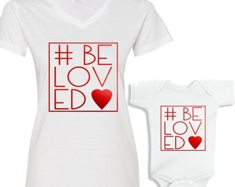 Valentine's #BeLoved Mommy and Me Shirt Set