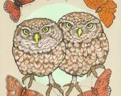 Owl Sisters - Archival Print