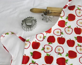 White Apples Youth Size Apron