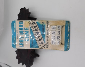 Vintage 1950's 60's New Old Stock Travel Game Called Last Word Game