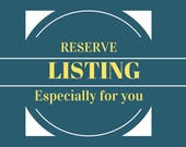 Reserve Listing for Sandra