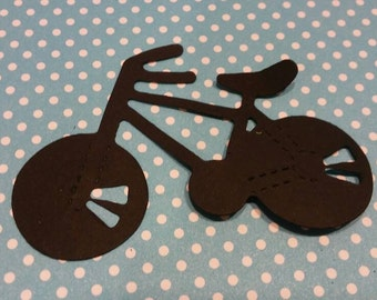 Bicycle die cut 20 CT- Die Cut- Cutout- Custom Colors Available