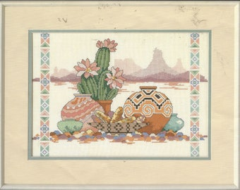 "90s Dimensions Counted Cross Stitch Kit 3687 A Taste of the Southwest Designed by Gloria Erickson Finished Size 14"" x 10"" Cross Stitch Kit"