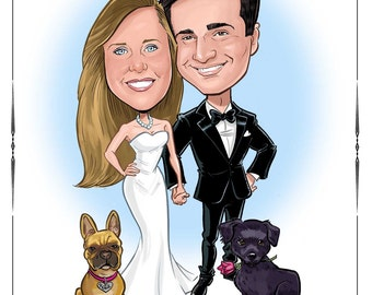 Wedding caricature Save-the-Dates - Save-the-Date Cards, Magnets, and Invitations