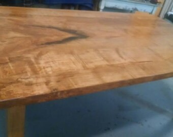Sale Dining Table, spalted maple, local hardwood