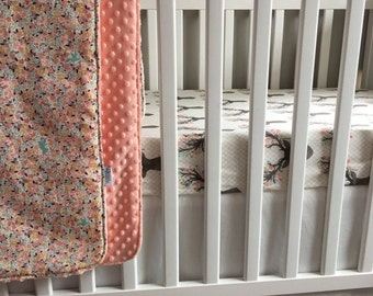 Spooktacular SALE 10% OFF Design Your Nursery Birch in Stone Grey  - Fawn Collection - Bucks, Floral, Coral Triangles - Choose your Prints