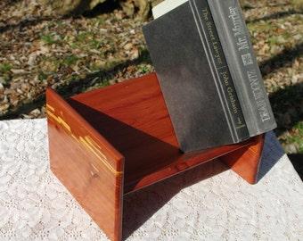 The BlackWater Book Rack - Eastern Red Cedar Book Rack from BlackWater Workshops