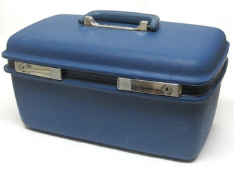 Samsonite Blue Train Case Concord Royal Carry on Travel Suitcase Luggage