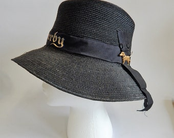 Cute Vintage Derby Hat with Dog Charm