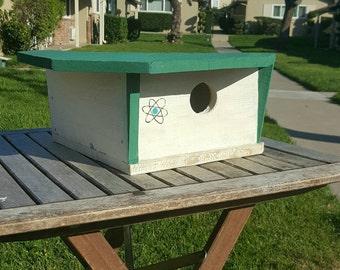 Mid century modern birdhouse,modern birdhouse,outdoor birdhouse,contemporary birdhouse,Eichler home,hand painted,graphic,birdhouse,wooden