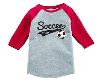 Soccer Mom Shirt raglan 3/4 sleeve sports shirt - Sports Mom Shirt - Pick your colors!