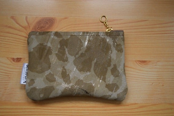 Leather change purse,leather coin purse,camo coin purse,camouflage purse,golden leather,brown leather purse,zippered purse,suede coin purse