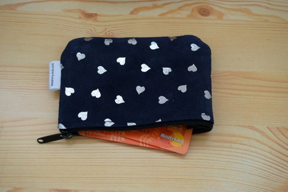 Leather coin purse,coin purse,change purse,hearts purse,leather wallet,zippered coin purse,zippered pouch,leather pouch,suede purse,hearts