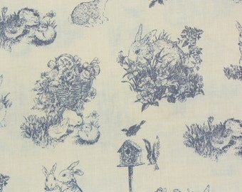 Easter Fabric, Easter Toile, Easter Scenes, Easter Chicks, Easter Bunnies, By the Yard,  Cotton Fabric