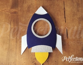 Large Rocket Ship Photo Booth Prop | Rocket Photo Booth Prop | Spaceship Prop