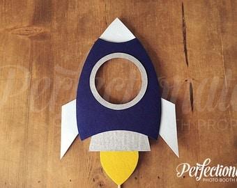 Large Rocket Ship Photo Booth Prop   Rocket Photo Booth Prop   Spaceship Prop