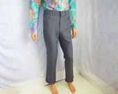 """70s 31"""" x 32"""" Lee Polyester Jeans Mens PANTS Gray"""