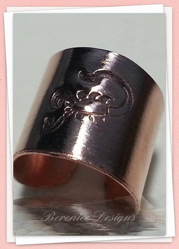 Scorpio Zodiac Sign Copper Ear Cuff