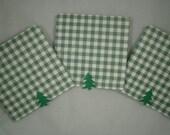 Mini Cards, Matchbook Mini Cards, Christmas Tags, Tags, To Froms, Set of 8, Mini Tags, Christmas Trees, Christmas Mini Cards