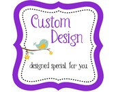 CUSTOM ORDER - Custom Christmas Card Design with Antlers