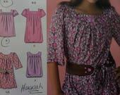 BUBBLE DRESS Pattern • Simplicity 2689 • Girls Plus • Tunic Top & Belt • Blouson Top • Sewing Pattern • Childrens Patterns • WhiletheCatNaps
