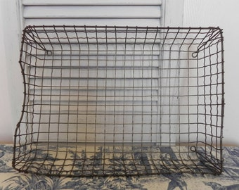 Large Industrial Wavy Wire Basket