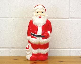 Vintage 1968 Union Products Santa Claus Blow Mold Light (E8281)