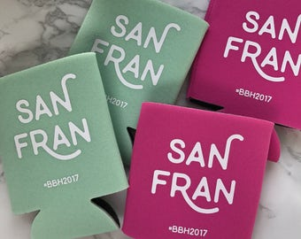 San Francisco Bachelorette, Team Bride, Bride Tribe, Bachelorette, Wedding Can Cooler