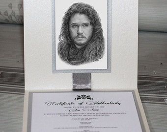 Jon Snow drawing, ACEO drawing, Luxury art drawing, Drawing with Swaroski crystals, Miniature drawing, Hyperrealistic portrait
