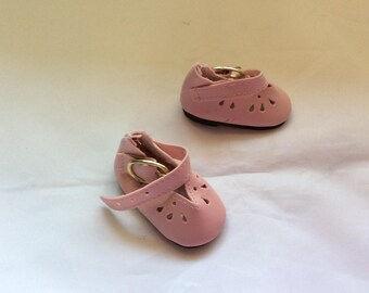 Pink dressy Mary Janes, doll shoe, fits Wellie Wisher, doll clothes