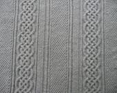 Celtic Knot Baby Blanket Heather Gray