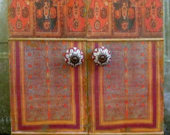 Moroccan inspired  Cabinet, jewelry box, wedding gift, medicine cabinet