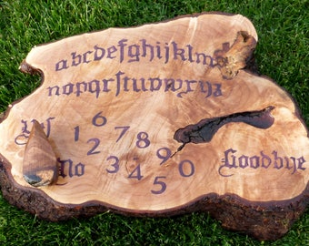 Ouija Board Reserved For Etsy Member Spirit Game Occult Seance Paranormal Haunted Ghosts Purple Wood Wooden Planchette Game Pagan Wiccan