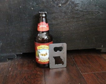 FREE SHIPPING Metal Bottle Opener with your State Credit Card Size