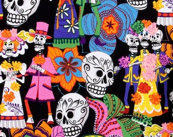 Los Novios - Fabric by the Yard - Alexander Henry - Day of the Dead