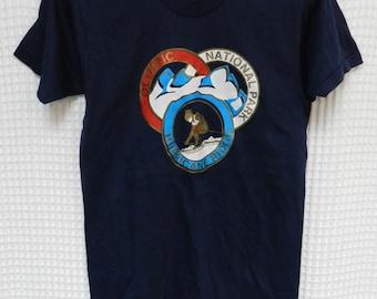 vintage Ski Hurricane Ridge T Shirt NOS 80s size Small Olympic National Park retro Skier Washington Northwest mint snow Screen Stars rare