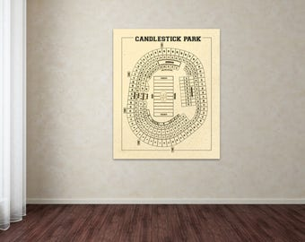 Print of vintage astrodome seating chart seating chart on print of vintage candlestick park seating chart seating chart on photo paper matte paper or malvernweather Choice Image