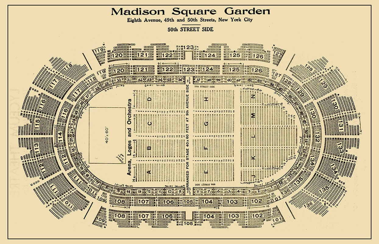 Seat Map Madison Square Garden Garden Ftempo