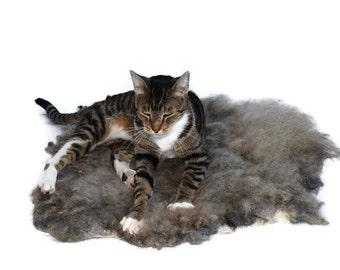 Cruelty Free, Shetland Cross, Wool Fleece, Cat Bed, Pet Bed, Dog Mat, Humane Sheepskin, Felted Wool Fleece, Natural Bedding, Eco Friendly