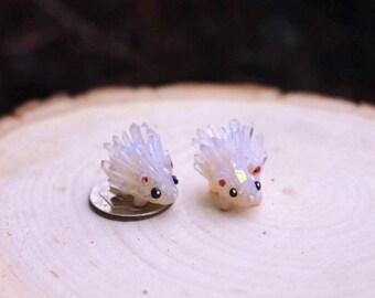 Tiny Crystal Hedgehog Figurine
