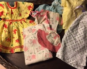 SALE!!! Lot of homemade vintage baby doll clothes so precious!