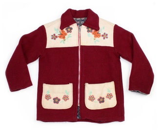 1940s Kids Beaded Wool Jacket