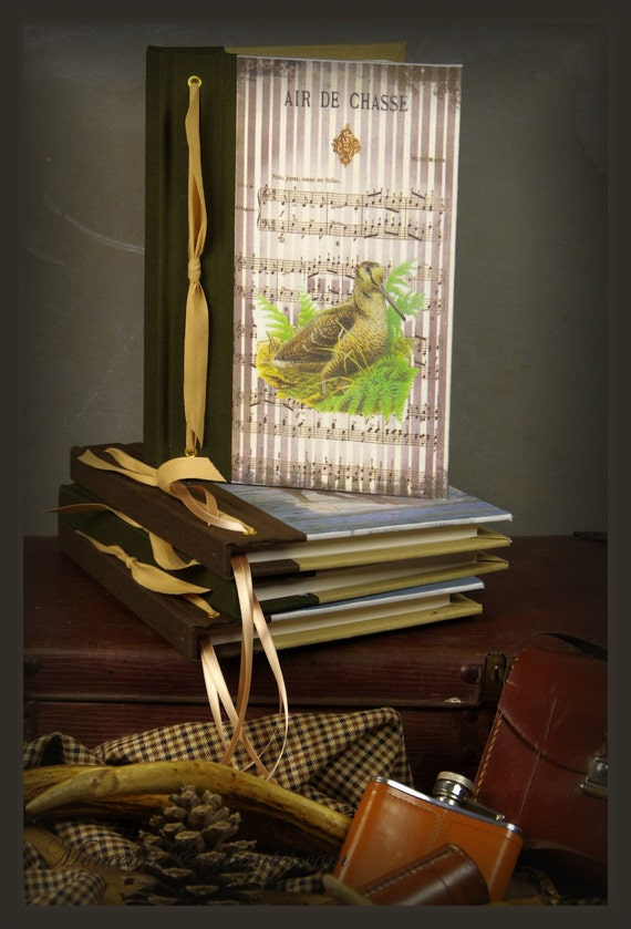 Saint Valentin Hunting venery book woodcock very nice journal write in French  vintage pictures personnalisé