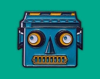 Robot Enamel Pin